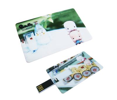 Custom Logo USB 2.0 Credit Card USB Drive Hello Kitty With Full Color