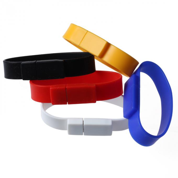 Silicone USB Flash Drive Bracelet 2GB 4GB 32GB Stick Water Resistant