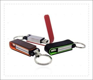 China Poratble Usb Flash Drive Leather Case 100 Thousand Times Read And Write factory