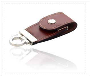 China Oem Gift Leather USB Stick / Leather USB Flash Drive Long Service Life factory