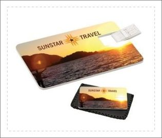 Credit Card Shaped Usb Flash Drive USB 3.0 3 Year Warranty Color Customized