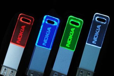 China 4gb 8gb 16gb Crystal Novelty Usb Flash Drives U Disk Lighting Multi Color factory