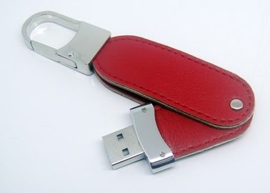 China No Encryption Leather USB Stick / Usb Flash Drive Leather USB 2.0 USB 3.0 USB 3.1 factory