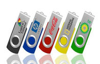 Personalised 16GB Plastic USB Flash Drive , Swivel USB Pendrive