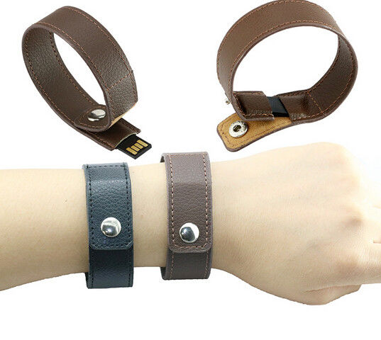 Fashion bracelet leather usb flash drive , 32GB real capacity memory stick