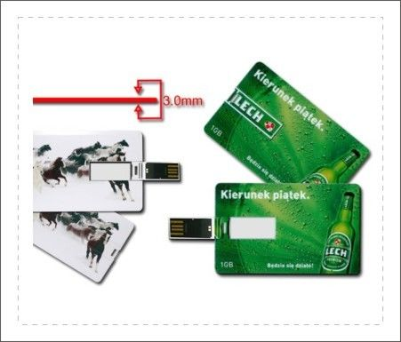 Lightweight Credit Card Shaped Pen Drive 32gb 16gb 8gb Pattern Customized supplier