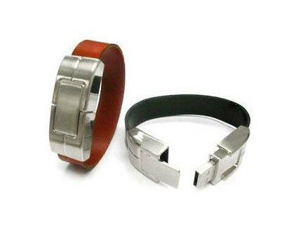 Leather Bracelet Leather USB Stick 3 Years Warranty supplier