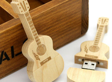 China Guitar shaped USD 3.0 personalized flash drive gift with laser engraved logo distributor