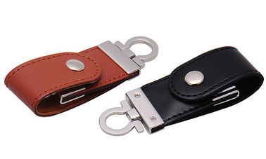China Leather 2GB USB 2.0 Hi - Speed USB Flash Drive With Logo Printed distributor