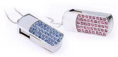China Diamond Lover Encrypted Secure Usb Flash Drive Necklace Jewelry Custom distributor